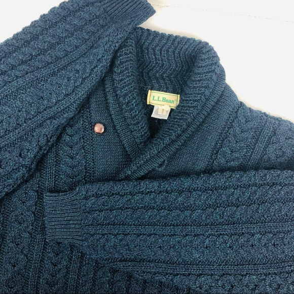 L.L. Bean Other - 🥂Sold🥂Vintage LL Bean Wool Cable Knit Fisherman